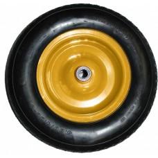 Колесо для строительной тачки 90/110 л (3.25/3.00-8) POLYAGRO (ржавчина на подшипнике)