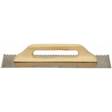 Гладилка нержавеющая сталь 13х48 см (зуб 6х6)