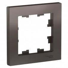 Рамка одноместная Schneider Electric AtlasDesign ATN000601 мокко