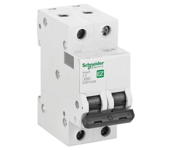 Автоматический выключатель Schneider Electric EASY 9 2П C 6А 4,5кА