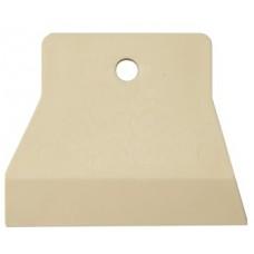 Шпатель резиновый, белый 150 мм.