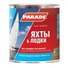 Лак яхтный алкидно-уретановый Parade L20 Яхты & лодки полуматовый 0,75 л