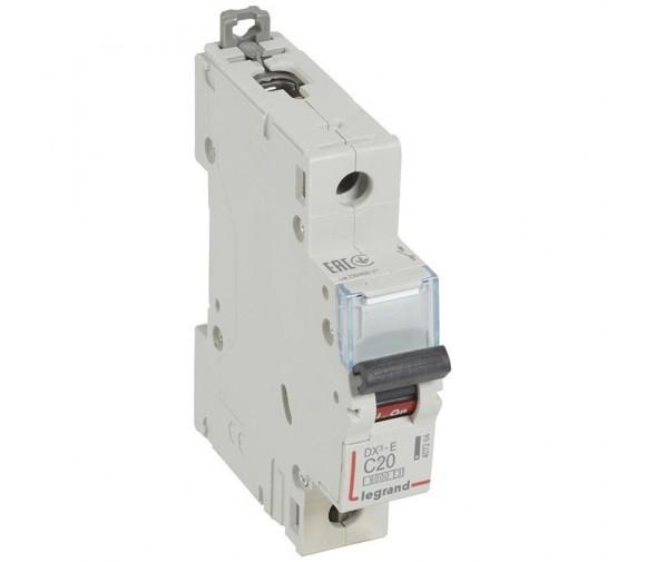Автоматический выключатель Legrand DX3-E 407264 1P C 20A 6кА