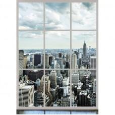 Фотообои виниловые на флизелиновой основе Decocode Панорама Манхэттена 21-0018-WL 2х2,8 м