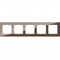 Рамка пятиместная Werkel Favorit WL01-Frame-05 Мокко