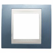 Рамка одноместная Schneider Electric Unica MGU6.002.554 хамелеон голубой лед/бежевая