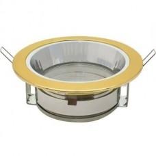 Светильник Uniel GX70/Н-6R встраиваемый с рефлектором золото