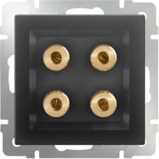 Механизм акустической розетки Werkel WL08-AUDIOx4 черный матовый