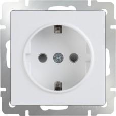 Механизм розетки Werkel WL01-SKGS-01-IP44 одноместный с заземлением и защитными шторками белый