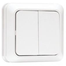 Выключатель EKF Рим ENV10-023-10 двухклавишный белый