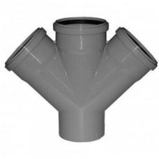 Крестовина канализационная  ПП с кольцом 110х110х110х110 мм 45 градусов