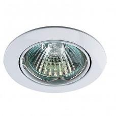 Светильник встраиваемый поворотный Novotech Crown 369100 NT09 266 белый GX5.3 50W 12V