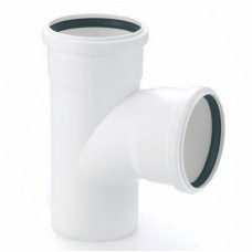 Тройник канализационный RAU-PP Rehau Raupiano Plus 50х50х50 мм 87 градусов белый