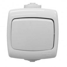 Переключатель Schneider Electric Рондо VA66-102B-BI IP44 одноклавишный белый