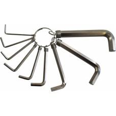 Набор ключей имбусовых Hex никелированных 10 шт (1,5-10 мм)