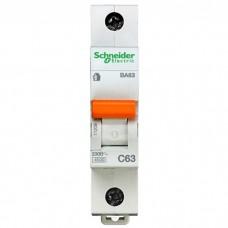 Автоматический выключатель Schneider Electric Домовой ВА63 1П C 63A 4,5кА
