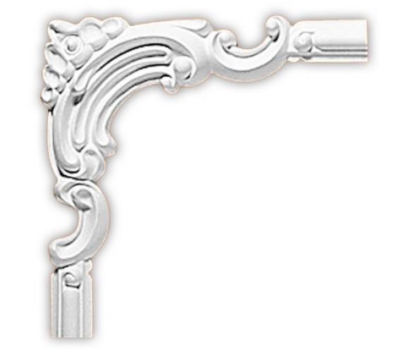 Угол декоративный для молдинга Decomaster 97012-5 180х180х12 мм