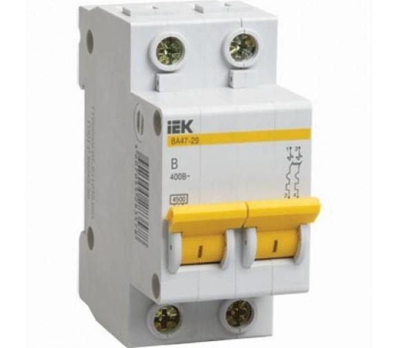 Автоматический выключатель IEK ВА47-29 2Р 20А С
