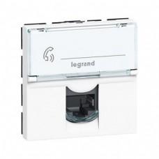 Legrand Mosaic New RJ45 076555 2 модуля 5E FTP одноместная белая