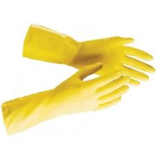 Перчатки хоз. прочный латекс, х/б напылен,разм.S