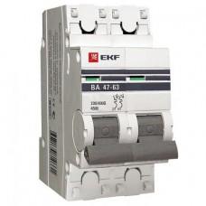 Автоматический выключатель EKF Proxima ВА 47-63 2P 4,5 кА 50А С