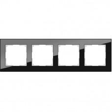 Рамка четырехместная Werkel Favorit WL01-Frame-04 черная