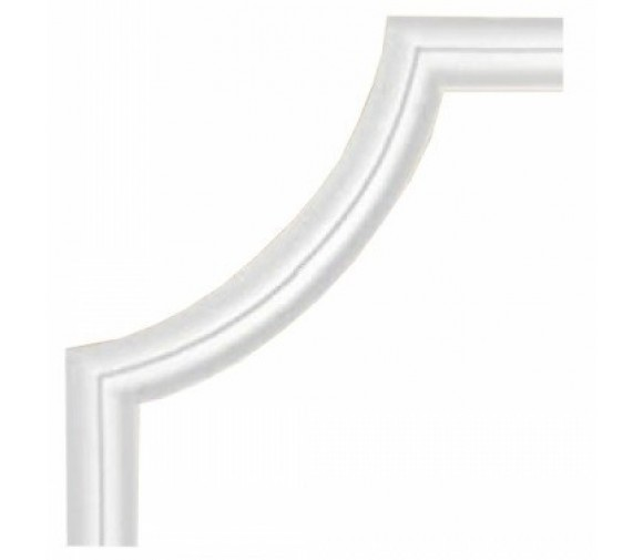 Угол декоративный для молдинга Decomaster 97100-2 210х210х8 мм