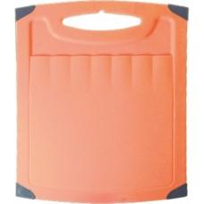 Доска разделочная пластиковая с резиновой вставкой 262*230 мм (ПЦ 1506)
