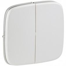 Лицевая панель Legrand Valena Allure 755025 двухклавишная белая