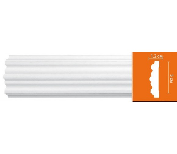 Молдинг полиуретановый Decomaster 97615 2400х50х12 мм
