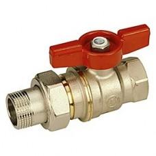 Кран шаровой Giacomini R919X007 стандартнопроходной латунный с отводом