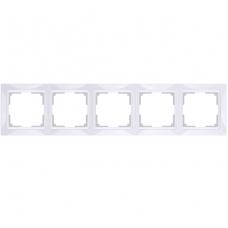 Рамка пятиместная Werkel Snabb Basic WL03-Frame-05 белая