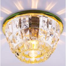 Светильник точечный встраиваемый Italmac Bohemia 220 1 73 G9 золото 40 Вт