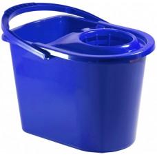 Ведро мерное с отжимом 14 л синее