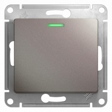 Механизм выключателя Schneider Electric Glossa GSL001213 одноклавишный с индикатором платина