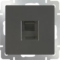 Механизм розетки компьютерной Werkel Ethernet WL07-RJ-45 серо-коричневый