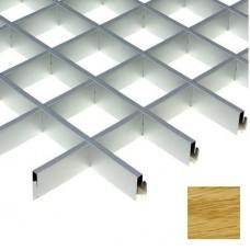 Потолок грильято Cesal Urban Standart Дуб Селект 731 100х100х27 мм