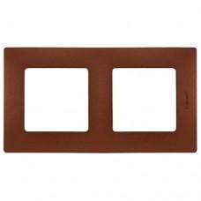 Рамка двухместная Legrand Etika 672572 какао