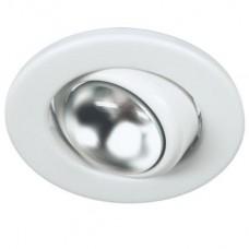 Светильник точечный встраиваемый Italmac Prima 39 1 01 R39 поворотный белый 40 Вт