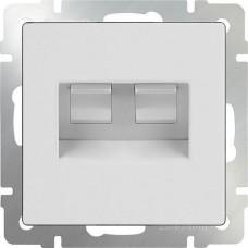 Werkel Ethernet WL01-RJ45+RJ45 двойной белый