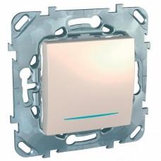 Механизм выключателя Schneider Electric Unica MGU5.201.25NZD одноклавишный c индикатором бежевый