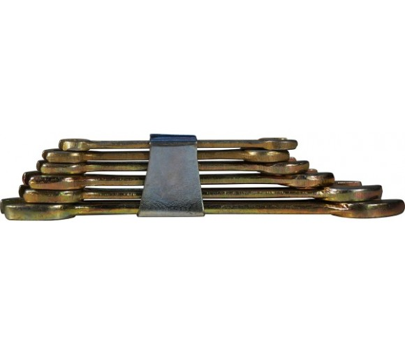 Набор ключей рожковых CS оцинкованных 6 шт. 6-17 мм