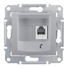 Schneider Electric Sedna SDN4101160 RJ11 одноместный алюминиевый