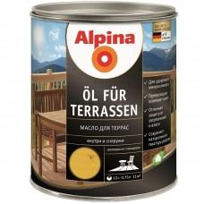 Масло для террас Alpina шелковисто-глянцевое светлое 0,75 л
