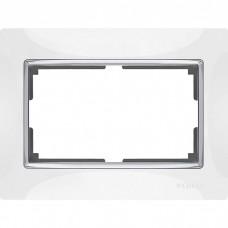 Рамка для двойной розетки Werkel Snabb WL03-Frame-01-DBL-white белая