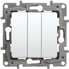 Механизм выключателя Legrand Etika 672213 трехклавишный белый