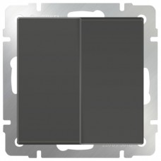 Механизм выключателя Werkel WL07-SW-2G-2W двухклавишный проходной серо-коричневый