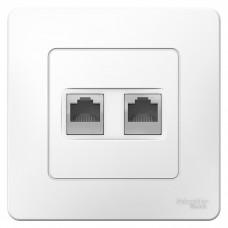 Розетка компьютерная Schneider Electric Blanca BLNIS045451 2хRJ45 одноместная белая