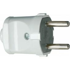 Вилка электрическая (без заземления), 10А. белый