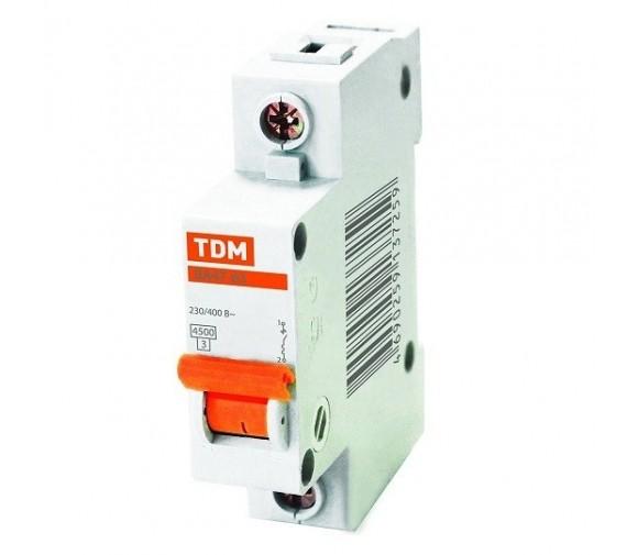 Автоматический выключатель TDM ВА47-63 SQ0218-0001 С 1P 6 A